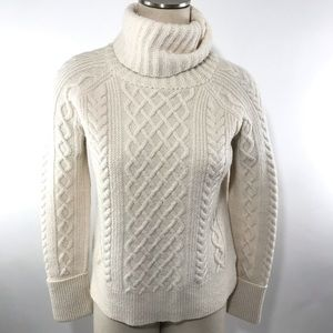 Madewell Sweater Cable Knit Stitch Turtleneck
